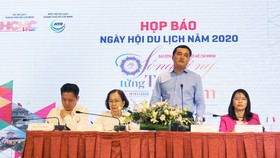 Ban tổ chức công bố sự kiện Ngày hội du lịch TPHCM 2020. Ảnh: ĐÌNH DƯ
