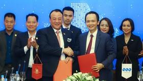 Lễ ký kết thỏa thuận hợp tác chiến lược giữa Tập đoàn FLC và Tập đoàn Tân Hoàng Minh.
