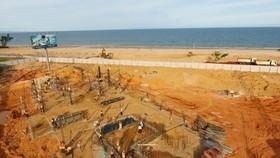Công viên bãi biển 16ha, nơi tổ chức các hoạt động thể thao, giải trí biển đang trong giai đoạn thi công, dự kiến hoàn thành và đưa vào vận hành giai đoạn 1 vào tháng 12-2020.
