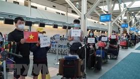 Công dân Việt Nam làm thủ tục lên máy bay trở về nước. (Ảnh minh họa: TTXVN phát)