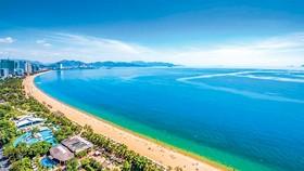 Một góc bãi biển Nha Trang.
