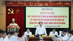 Bộ trưởng Lê Vĩnh Tân phát biểu tại hội nghị. Ảnh: QUANG PHÚC