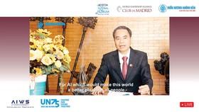 Ông Nguyễn Văn Tưởng, Chủ tịch Công ty Trầm Hương Khánh Hòa phát biểu tại Hội nghị Trực tuyến.