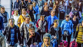 Công nghệ nhận diện khuôn mặt tập thể tại Trung Quốc.