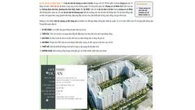 """Một trang mạng rao quảng cáo về dự án """"Nhà xã hội Lê Minh Bộ Công an""""."""