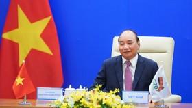 Thủ tướng Nguyễn Xuân Phúc phát biểu tại Hội nghị Thượng đỉnh G20.Ảnh VGP/Quang Hiếu