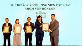 Đại diện Tập đoàn Novaland trong Top 10 Báo cáo thường niên tốt nhất.