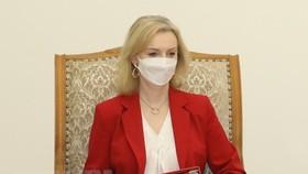 Bộ trưởng Thương mại Quốc tế Vương quốc Anh Elizabeth Truss. (Ảnh: Văn Điệp/TTXVN)