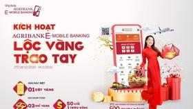 """Rộn ràng đón năm mới cùng """"Kích hoạt Agribank E-Mobile Banking - Lộc vàng trao tay"""""""