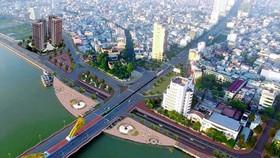 Nút giao thông phía tây cầu Rồng, TP Đà Nẵng. (Ảnh: Báo Đà Nẵng)