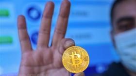 Đồng tiền điện tử Bitcoin. (Ảnh: AFP/TTXVN)