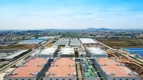 Khu công nghiệp Quang Châu (Bắc Giang), nơi đặt cơ sở sản xuất của Foxconn.