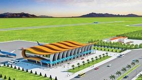 Phối cảnh sân bay Phan Thiết, cách TPHCM khoảng 200km.