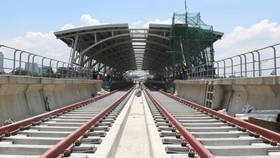 Đến nay tuyến metro số 1 (Bến Thành - Suối Tiên) đã hoàn thành 82% tổng khối lượng công việc.