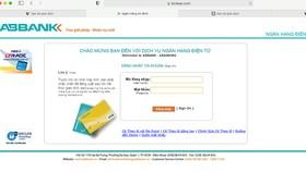 ABBANK khuyến cáo khách hàng về hành vi giả mạo website NH