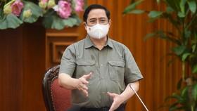 Thủ tướng Phạm Minh Chính: Nếu không xử lý nghiêm minh, sẽ tiếp tục dẫn tới tâm lý chủ quan, lơ là, mất cảnh giác, có thể dẫn đến hậu quả khó lường. Ảnh VGP