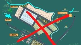 'Dự án ma' 'The Xinh Village - Làng biệt thự xanh' được rao bán trên mạng xã hội. (Nguồn: Thanh tra)