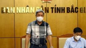 Thứ trưởng Bộ Y tế Nguyễn Trường Sơn và Thường trực Tỉnh ủy Bắc Giang làm việc với BCĐ phòng, chống dịch COVID- 19 của tỉnh. (ảnh: Đức Duy)