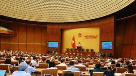 Quốc hội biểu thông qua Nghị quyết về điều chỉnh dự toán chi ngân sách nhà nước và phê chuẩn quyết toán ngân sách nhà nước năm 2019. (Ảnh: Phương Hoa/TTXVN)