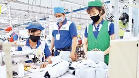 Người lao động tại Công ty May Nhà Bè, TP Hồ Chí Minh.