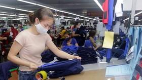 May hàng xuất khẩu sang thị trường EU tại Công ty May Thái Nguyên. (Ảnh: Trần Việt/TTXVN)