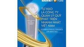 Baoviet đạt giải Công ty Quản lý Quỹ phát triển nhanh nhất 2021