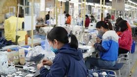 Sản xuất da giày xuất khẩu. (Ảnh: Đức Duy/Vietnam+)