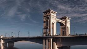 Một trong 3 phương án về kiến trúc cầu Trần Hưng Đạo được đơn vị tư vấn đề xuất trước đó. (Ảnh: TEDI).
