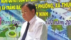 Ông Phạm Văn Tân, Chủ tịch UBND tỉnh Tây Ninh phát biểu tại buổi lễ
