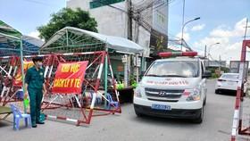Xe y tế phục vụ truy vết các trường hợp tiếp xúc gần ở TP Thuận An, Bình Dương