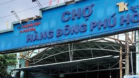 Chợ Hàng Bông Phú Hòa tạm dừng hoạt động từ sáng 10-7
