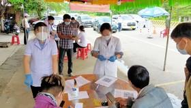 UBND huyện Bàng bàng lập các chốt kiểm soát dịch Covid-19 ở cửa ngõ ra vào địa bàn