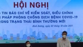 Ông Võ Văn Minh, Chủ tịch UBND tỉnh Bình Dương kết luận hội nghị