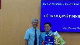 Ông Nguyễn Huy Chiến giữ chức vụ Phó Chủ tịch UBND quận 10