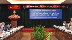 Phó Bí thư Thành ủy TPHCM Võ Thị Dung, phát biểu tại buổi họp mặt. Ảnh: CAO THĂNG
