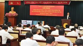 Hội nghị Công bố dự thảo Báo cáo Chính trị Đại hội Đại biểu TPHCM lần thứ XI. Ảnh: VIỆT DŨNG