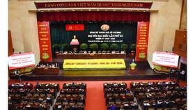 Quang cảnh Đại hội đại biểu Đảng bộ TPHCM lần thứ XI. Ảnh: HOÀNG HÙNG