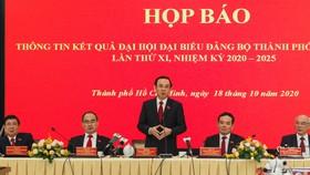 Đồng chí Nguyễn Văn Nên nhấn mạnh đến trách nhiệm thực hiện bằng được khát khao của TPHCM là góp phần quan trọng cùng cả nước, vì cả nước. Ảnh: HOÀNG HÙNG