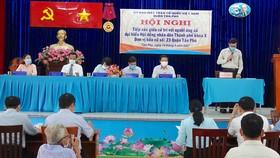 Các ứng cử viên ĐB HĐND TPHCM khóa X tại đơn vị bầu cử số 23 tiếp xúc cử tri