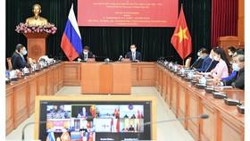 Bí thư Thành ủy TPHCM Nguyễn Văn Nên họp trực tuyến với Thống đốc thành phố Saint Petersburg