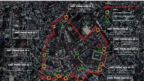 Huyện Hóc Môn tiếp tục phong tỏa thêm ở 3 ấp để ngăn dịch Covid-19 lây lan