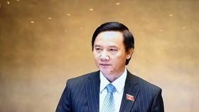 Chủ nhiệm Ủy ban Pháp luật Nguyễn Khắc Định