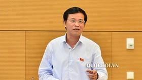 Tổng Thư ký, Chủ nhiệm Văn phòng Quốc hội Nguyễn Hạnh Phúc phát biểu tại phiên họp