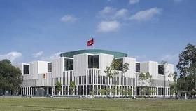 Nhà Quốc hội tọa lạc trên đường Độc Lập, quận Ba Đình, thành phố Hà Nội