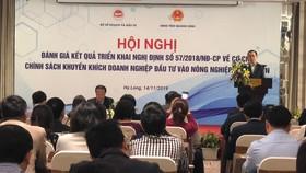 Thứ trưởng Bộ Kế hoạch và Đầu tư Võ Thành Thống phát biểu tại Hội nghị