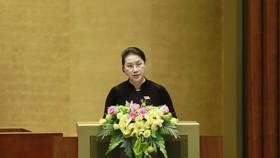 Chủ tịch Quốc hội Nguyễn Thị Kim Ngân đọc diễn văn bế mạc kỳ họp