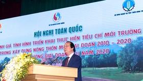 Thứ trưởng Bộ Tài nguyên và Môi trường Võ Tuấn Nhân phát biểu khai mạc Hội nghị