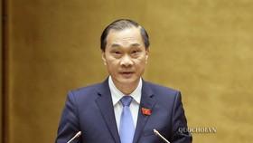 Chủ nhiệm Ủy ban Kinh tế của Quốc hội Vũ Hồng Thanh trình bày Báo cáo giải trình, tiếp thu, chỉnh lý dự án Luật Đầu tư theo phương thức đối tác công tư (PPP)