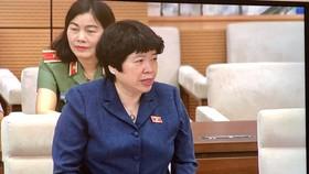 Chủ nhiệm Ủy ban về các vấn đề xã hội Nguyễn Thúy Anh báo cáo tại phiên họp