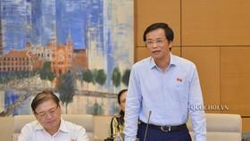 Tổng Thư ký Quốc hội Nguyễn Hạnh Phúc đề nghị Quốc hội tiến hành chất vấn và trả lời chất vấn theo hình thức trực tuyến với thời gian 3 ngày